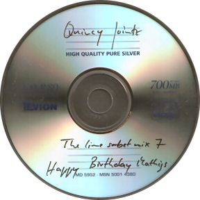 Picture of the CD that DJ Quincy Jointz sent me.
