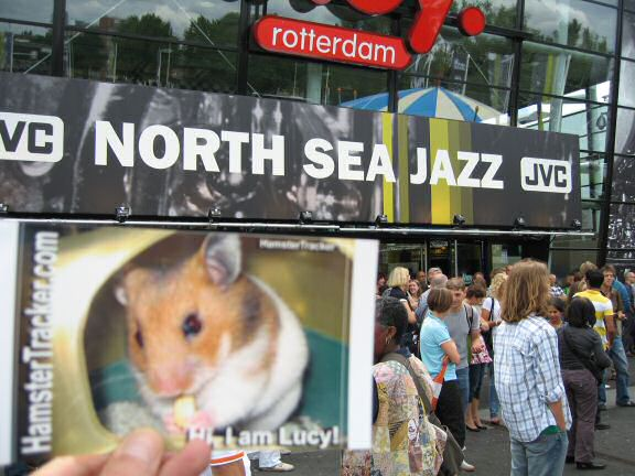 Extreme HamsterTrackin' the North Sea Jazz festival.