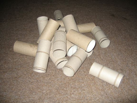 Picture Sandra's gift: (almost) 1 million toiletpaper rolls.