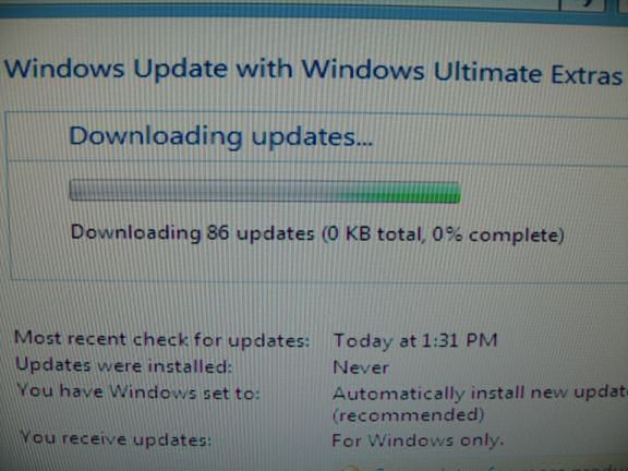 Upgrading the HamsterTracker-Server with Windows Vista Ultimate.