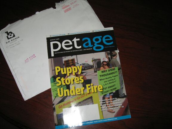 Lucy(3.0) is featured in PetAge magazine.